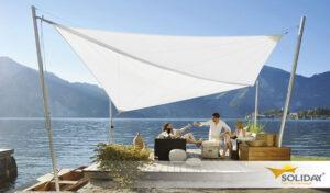 Aurinkopurjeen avulla saat kesämökillesi tai järvenrantaan loistavan oleskelutilan.
