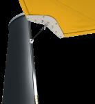 Aurinkopurjeen mastot voidaan varustaa led-valoilla